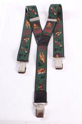 Pánske traky - poľovnícke - zelené (š. 3,5 cm)