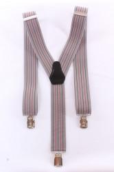 Pánske traky s pásikmi - čiernosivé (3,5 cm)