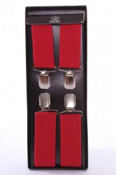 Pánske traky v darčekovom balení - červené (š. 3,5 cm)