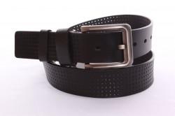 Pánsky kožený opasok VZOR 1. - čierny (š. 3,5 cm) PD