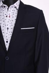 Pánsky oblek BRUNO SLIM FIT (v. 182 cm) - tmavomodrý #1