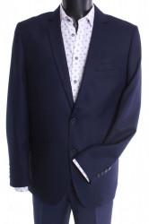 Pánsky oblek CARLO KLASIK s dvoma rozparkami - tmavomodrý (v. 176 cm)