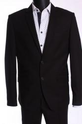 Pánsky oblek DELGATO SLIM FIT (v. 176 cm) - čierny