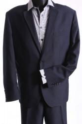 Pánsky oblek GORDON SLIM (v. 176 cm) - čierno-modrý
