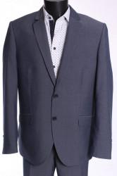 Pánsky oblek HARRY (v. 176 cm) - sivo-modrý