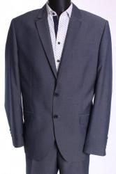 Pánsky oblek HARRY (v. 182 cm) - sivo-modrý