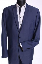 Pánsky oblek KAROL KLASYK (v. 182 cm) - modrý
