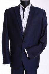 Pánsky oblek KAROL (v. 182 cm) - tmavomodrý