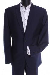Pánsky oblek LUCIANO (v. 188 cm) - modrý