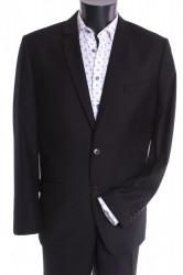 Pánsky oblek MARCO - čierny 4. (v. 182 cm)