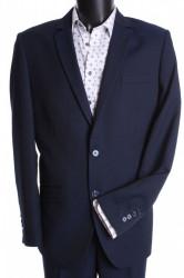Pánsky oblek MATEO-KLASIK s dvoma rozparkami  (v. 176 cm) - modro-čierny