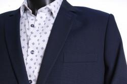 Pánsky oblek MATEO-KLASIK s dvoma rozparkami  (v. 176 cm) - modro-čierny #1