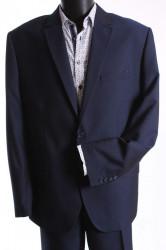 Pánsky oblek MATEO SLIM (v. 182 cm) - čierno-modrý