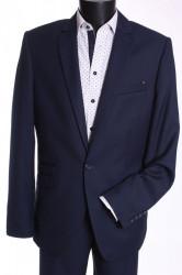 Pánsky oblek MATEO (v. 182 cm) - čierno-modrý