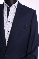 Pánsky oblek MATEO (v. 188 cm) - čierno-modrý #1