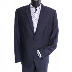 Pánsky oblek ROBERTO SLIM (v. 176 cm) - sivo-modrý