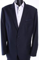 Pánsky oblek s modrým zdobením B (v. 182 cm) - tmavomodrý