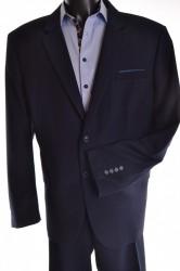 Pánsky oblek s modrým zdobením - tmavomodrý (v. 176