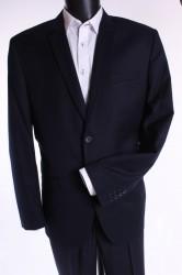 Pánsky oblek s modrým zdobením (v. 188 cm) - tmavomodrý P10
