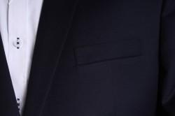 Pánsky oblek s modrým zdobením (v. 188 cm) - tmavomodrý P10 #1