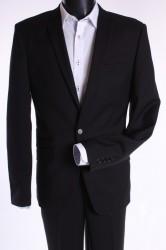 Pánsky oblek SLIM FIT (v. 188 cm) - čierny 2. P10