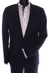 Pánsky oblek SLIM FIT Žaba (v. 182 cm) - čierno-modrý