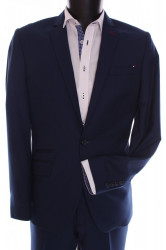 Pánsky oblek SLIM SPORT MARTIN  (v. 176 cm) - modrý