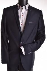 Pánsky oblek štepovaný - tmavomodrý (v. 188 cm) P10