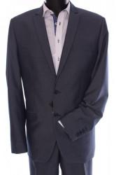 Pánsky oblek (v. 182 cm) - sivo-modrý