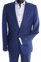Pánsky oblek VIOLI SLIM FIT - kráľovský modrý (v. 176 cm)