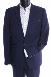 Pánsky oblek ŽABA - modrý (v. 182 cm)