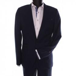 Pánsky oblek ŽABA SYLWETKA B. (v. 188 cm) - čierno-modrý