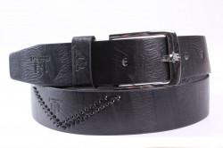 Pánsky opasok (A-039) - čierny (š. 3,5 cm)