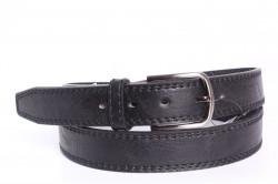 Pánsky opasok (A-1992) - čierny (š. 3 cm)