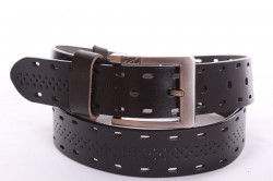 Pánsky opasok kožený VZOR 3. - čierny (š. 3,5 cm) PD-4038