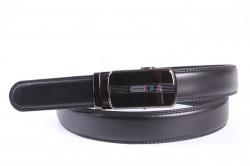 Pánsky opasok VZOR 12 - čierny (š. 3,3 cm)