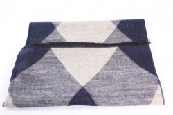 Pánsky šál (6066) - (31x180 cm) - béžovo-modrý