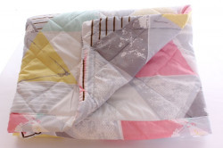 Paplón detský farebný (110x140 cm) - sivo-biely