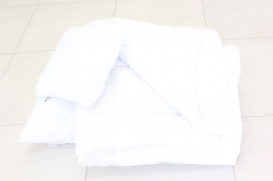 Paplón + vankúš + malý vankúš - biely (140x200cm, 70x90 cm, 38x45 cm)