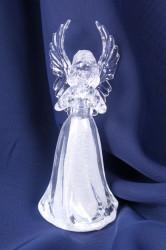 Plastový anjel s modliaci - svietiaci (v. 11,5 cm)