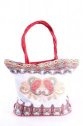 Plážová taška 19017 (55x43x20 cm) - červená