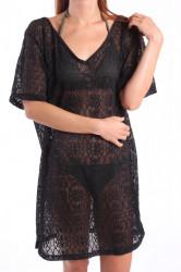Plážové šaty ES3019 - čierne
