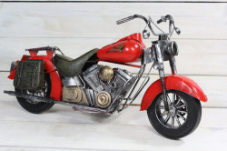 Plechová motorka (46x24 cm)