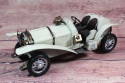 Plechové auto (29x10,5x12 cm) maketa - krémové