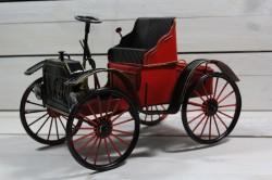 Plechové AUTO - červené (26,5x19x15,5 cm)