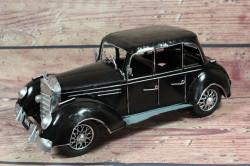 Plechové auto - čierne (30x16 cm)