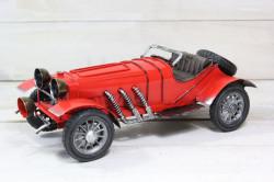 Plechové auto (maketa) - červené (27x10x12 cm)