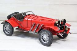 Plechové auto (maketa) - červené (27x10x12 cm) #1