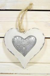 Plechové srdce HOME (15,5x15,5 cm)