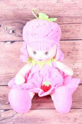 Plyšová bábika JAHÔDKA - ružová (v. 40 cm)